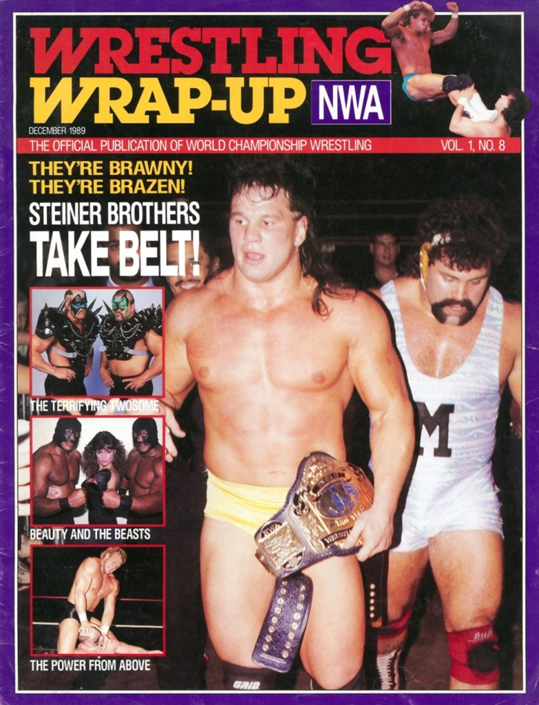 """Steiner Brothers Take Belt!"" - NWA Wrestling Wrap-Up #8 Cover"